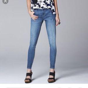 Simply Vera Vera wang skinny ankle jeans LN 6
